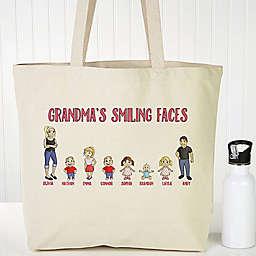 Grandchildren Character Canvas Tote Bag