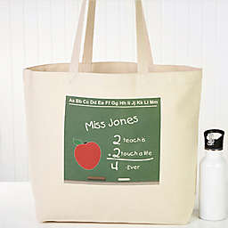Chalkboard Teacher Canvas Tote Bag