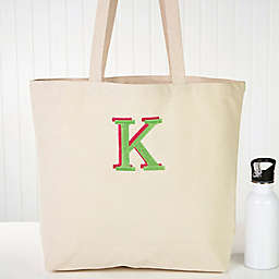 Choose Your Colors Embroidered Ladies Canvas Beach Tote Bag