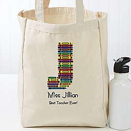 Crayon Teacher Petite Canvas Tote Bag