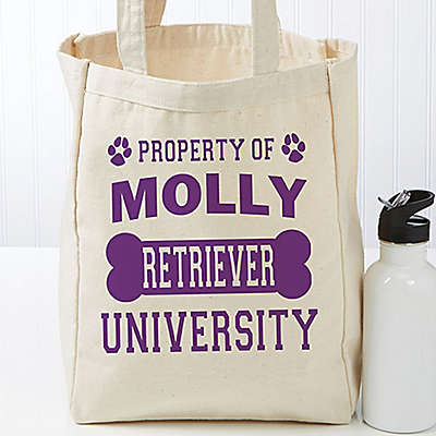"""""""Property of...""""  Petite Canvas Tote Bag"""