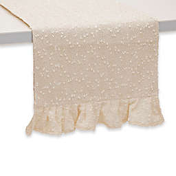 Boston International 72-Inch Fancy Ruffle Table Runner in Cream