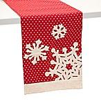 Boston International 72-Inch Polka Dot Snowflake Table Runner