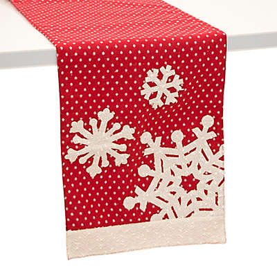 Boston International 72-Inch Polka Dot Snowflake Table Runner