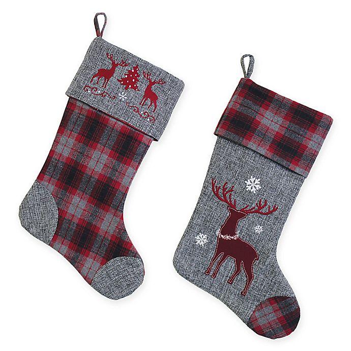 Boston international flannel deer christmas home d cor for International home decor stores