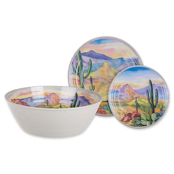 Alternate image 1 for Desert Landscape Melamine Dinnerware Collection