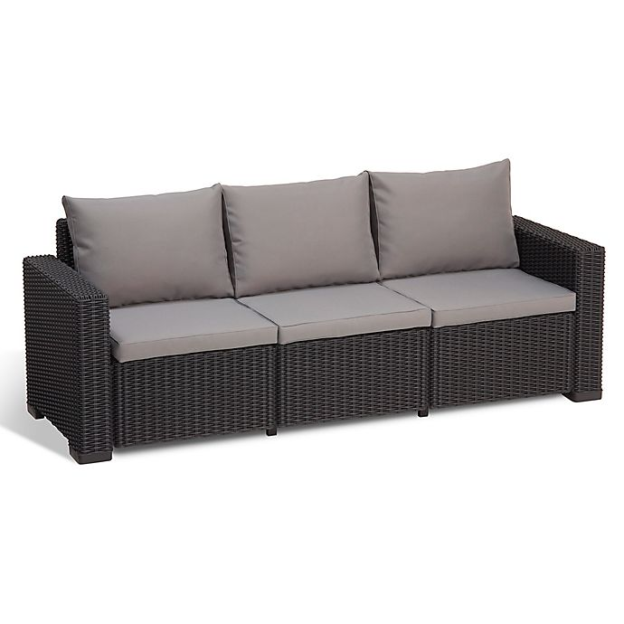 Keter California All-Weather 3-Seater Sofa with Cushions