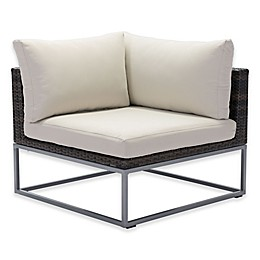 zuo® Malibu All-Weather Corner Chair in Brown/Beige