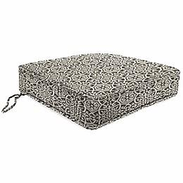 Print Tapered Boxed Edge Seat Cushion in Sunbrella® Fabric