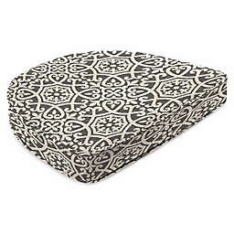 Print Boxed Seat Cushion in Sunbrella® Fabric