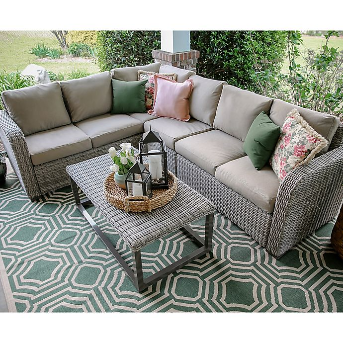 Alternate image 1 for Forsyth 5-Piece Sectional in Tan