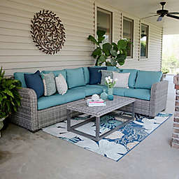 Forsyth 5-Piece Sectional in Blue