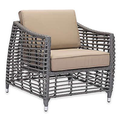 Zuo Trek All-Weather Beach Arm Chair in Grey