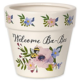 Precious Moments® Welcome Ba-Bee Ceramic Indoor/Outdoor Flower Pot in White
