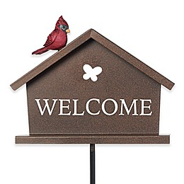Precious Moments® 16-Inch Birdies Welcome Garden Stake in Bronze