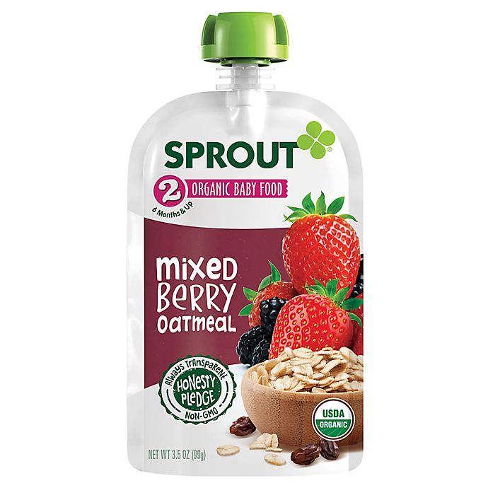 Alternate image 1 for Sprout® 3.5 oz. Stage 2 Mixed Berry Organic Oatmeal
