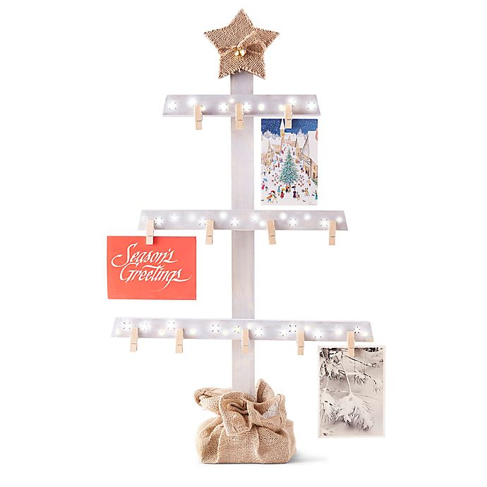 FAO Schwarz LED Lighted Card Holder Tree Display | Bed Bath & Beyond