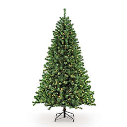 Puleo International 9-Foot Northern Fir Pre-Lit Artificial Christmas Tree with 1000 Clear Lights