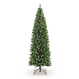 Puleo International 7.5-Foot Northern Fir Pre-Lit Artificial Christmas Tree with 350 Clear Lights