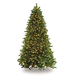 Puleo International 7.5-Foot Glacier Fir Pre-Lit Artificial Christmas Tree with 700 Clear Lights