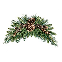 National Tree Company® 36-Inch Wintry Pine Cone Crescent Christmas Swag