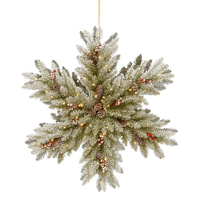 National Tree Company 174 32 Inch Pre Lit Led Snowy Dunhill