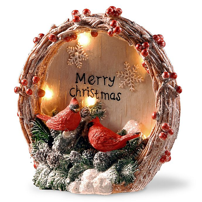 """National Tree Company® """"Merry Christmas"""" Cardinal Lighted 9-Inch Tabletop Decoration"""