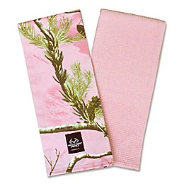 Design Imports Realtree® Camo Kitchen Towels in Pink (Set of 2)