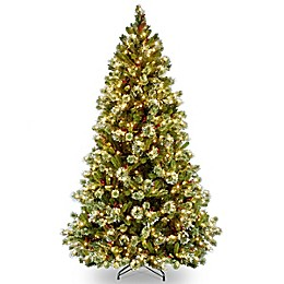 National Tree Company 6-1/2-Foot Pre-Lit Wintry Pine Artificial Christmas Tree