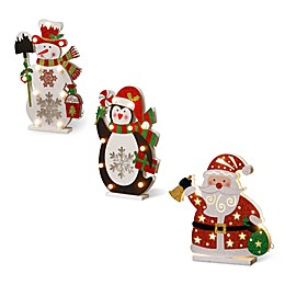 National Tree Company Wooden Christmas Decoration Collection