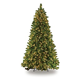 Puleo International 7.5-Foot Teton Pine Pre-Lit Artificial Christmas Tree with Clear Lights