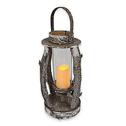 Puleo International 22-Inch Wooden LED Lantern