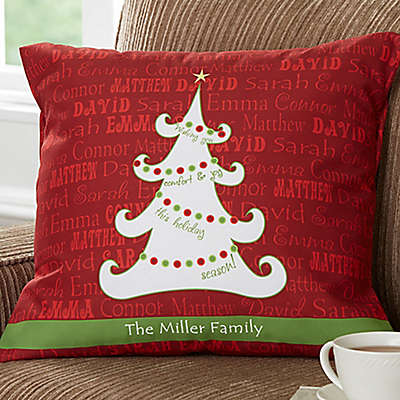 Christmas Tree 18-Inch Square Throw Pillow
