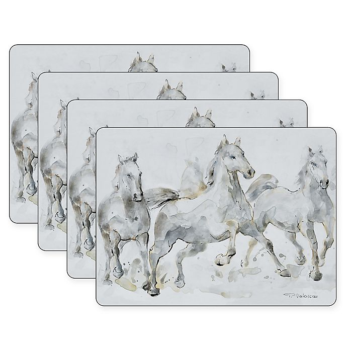 Alternate image 1 for Pimpernel Spirited Horses Placemats (Set of 4)