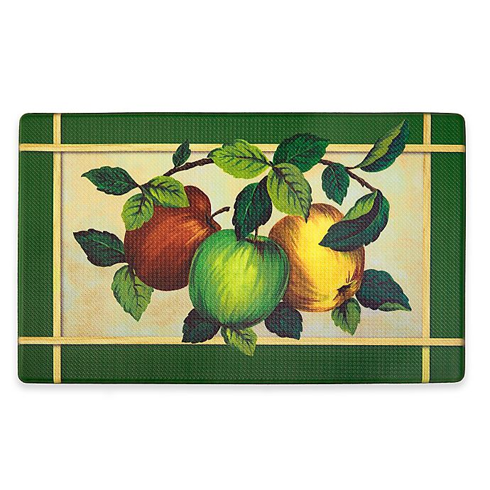 Alternate image 1 for Apple Orchard 30-Inch x 18-Inch Anti-Fatigue Kitchen Floor Mat