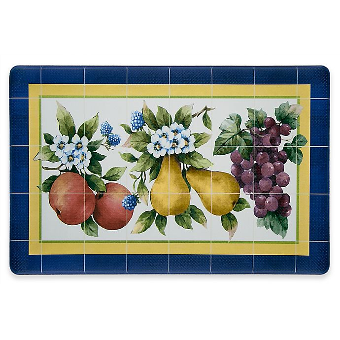 Alternate image 1 for Fruity Tiles 30-Inch x 18-Inch Anti-Fatigue Kitchen Floor Mat