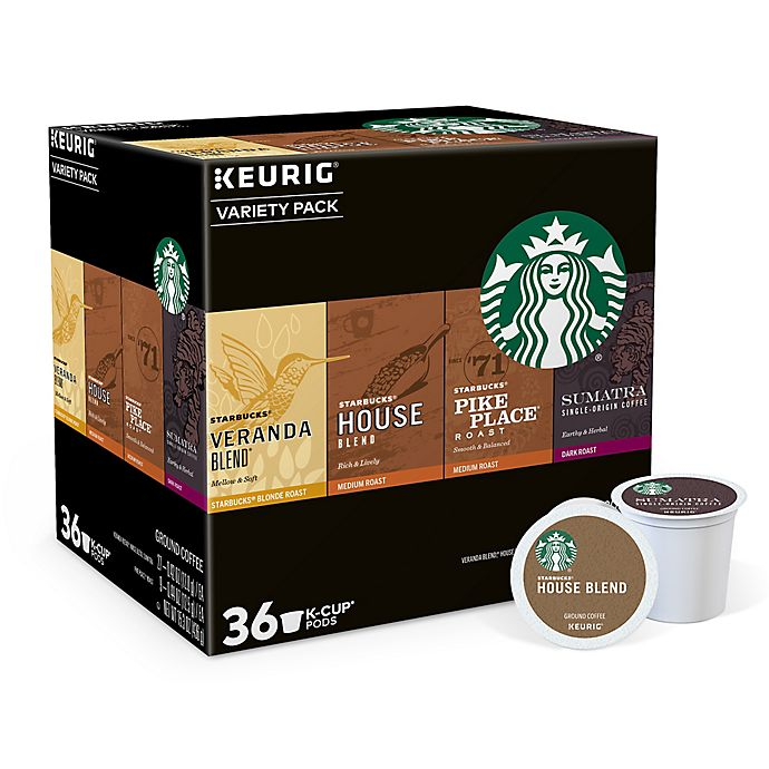 Alternate image 1 for Starbucks® Variety Pack Keurig® K-Cup® Pods 36-Count