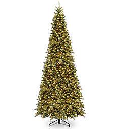National Tree Company Pre-Lit Tiffany Fir Slim Artificial Christmas Tree