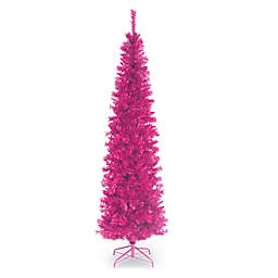 National Tree Company® 7-Foot Tinsel Christmas Tree in Pink