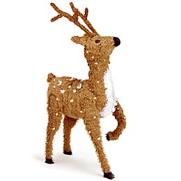 National Tree Company 36-Inch Prancing Reindeer with Clear Lights
