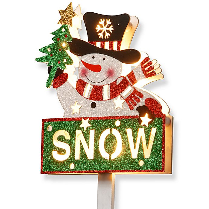 Alternate image 1 for National Tree Company 35-Inch Pre-Lit Snowman with \