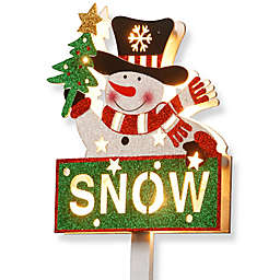 National Tree Company 35-Inch Pre-Lit Snowman with