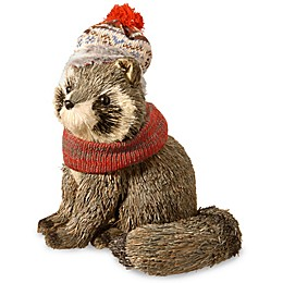 National Tree Company 12-Inch Holiday Raccoon in Brown
