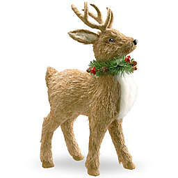 National Tree Company 19-Inch Standing Reindeer Holiday Decoration in Brown