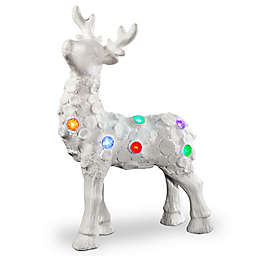 National Tree Company 25-Inch LED Reindeer Figurine in White