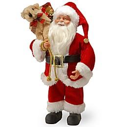 National Tree Company 12-Inch Standing Santa Christmas Figurine
