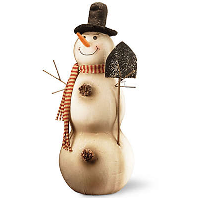National Tree Company 27-Inch Holiday Snowman Decoration in Ivory