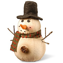 National Tree Company 10-Inch Holiday Snowman Decoration in Ivory
