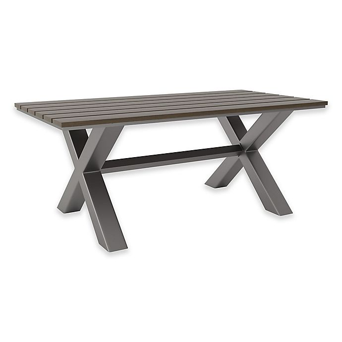 Alternate image 1 for Zuo® Modern Bodega Outdoor Dining Table in Grey