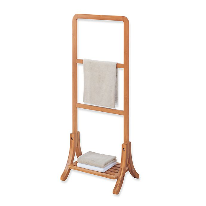 Alternate image 1 for Neu Home Lohas Bamboo Free Standing Towel Stand